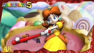 All Minigames (Daisy gameplay)   Mario Party 5 ⁴ᴷ
