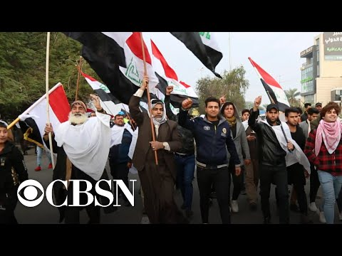 Thousands protest in Baghdad against U.S. troop presence