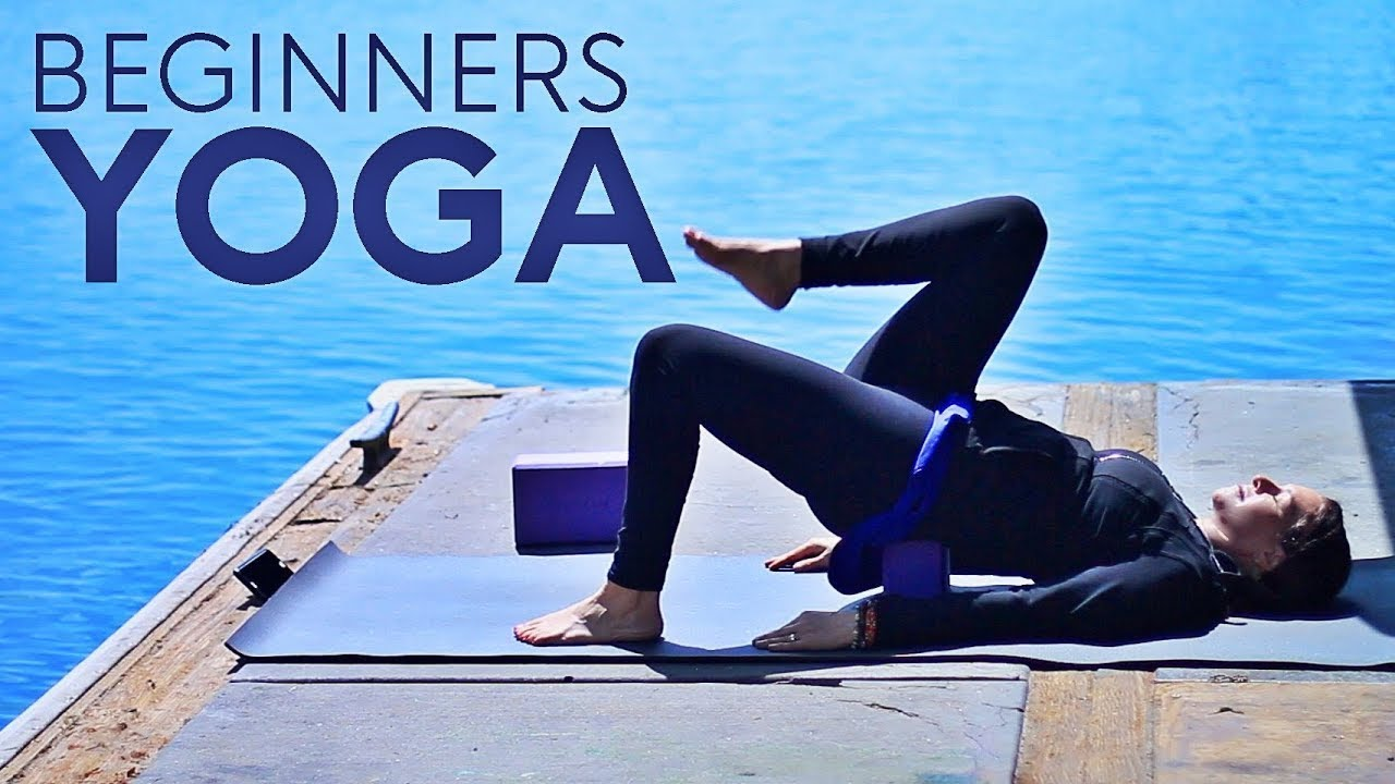 20 Minute Beginners Yoga Class (Easy) | Fightmaster Yoga Videos