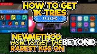 [NEW CODE] HOW TO GET 1,000 TRIES/SPIN ON BEYOND| NEW METHOD ON HOW TO GET RARE KG| ROBLOX NRPG- Beyond