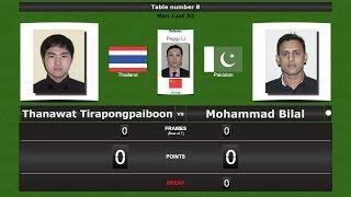 snooker men last 32 thanawat tirapongpaiboon vs mohammad bilal