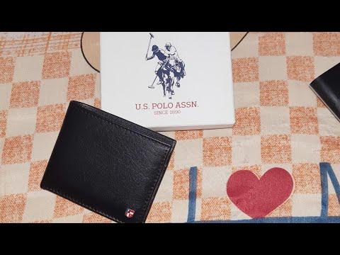U.S. Polo Assn. Men Navy Genuine Leather Two Fold Wallet | Myntra
