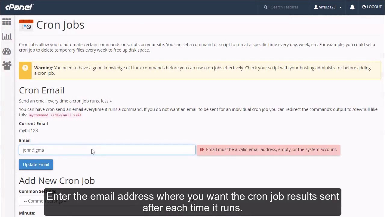 How to setup a cron job in cPanel?