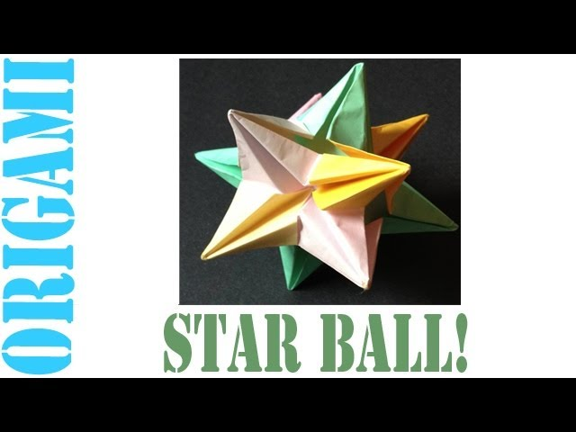 How To Make An Origami Modular Decorative Star Ball 3D Omega Star
