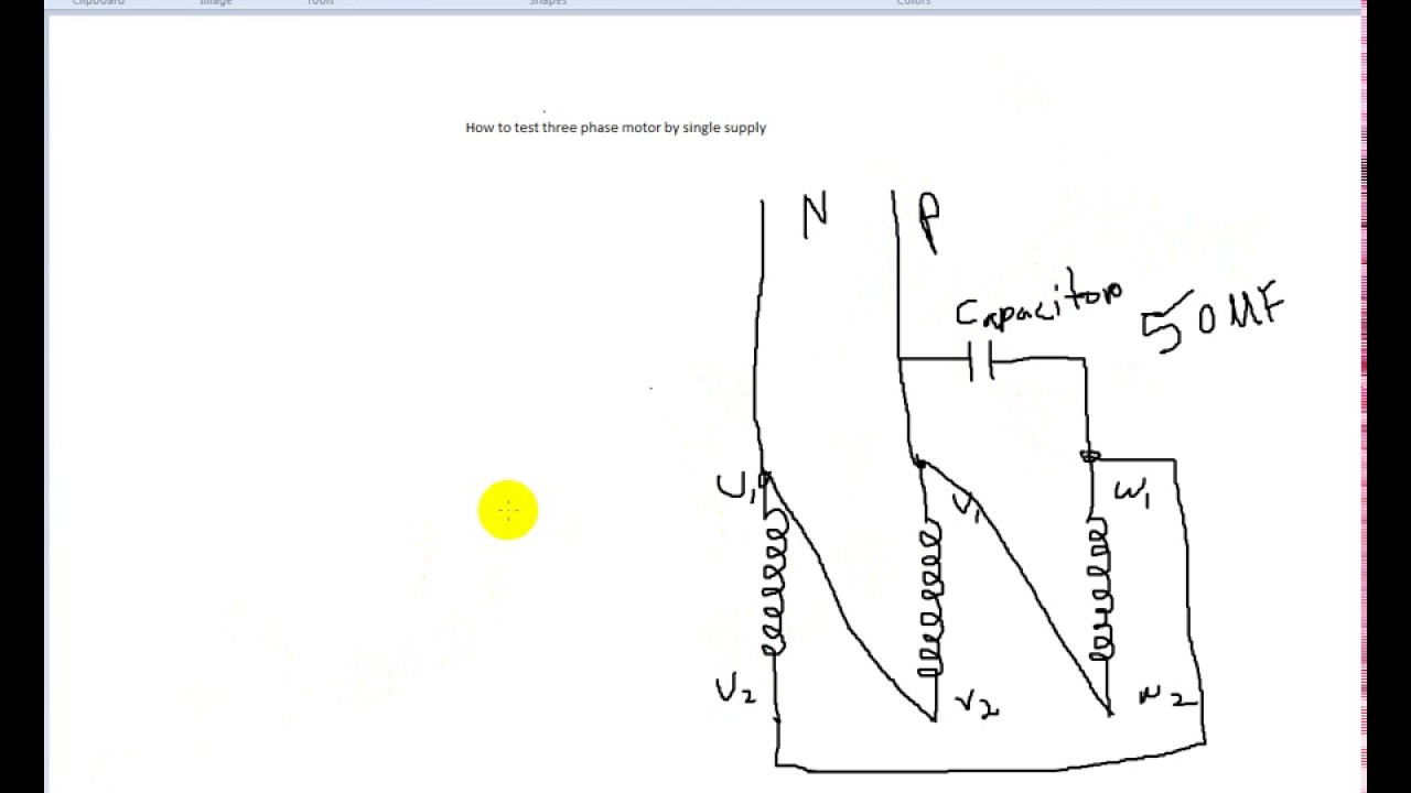 three phase motor test by single phase supply diagram youtube 3 phase to single phase wiring diagram three phase to single phase diagram [ 1280 x 720 Pixel ]