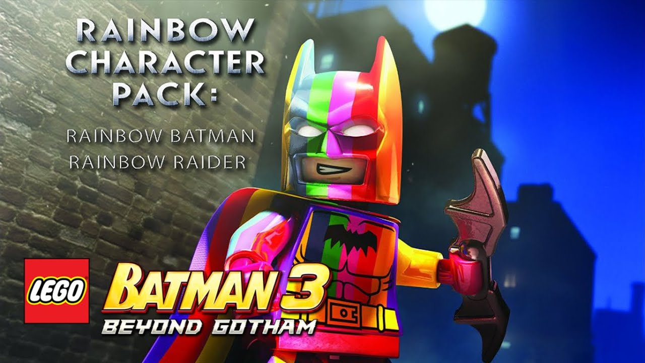 lego batman 3: beyond gotham - rainbow character pack revealed