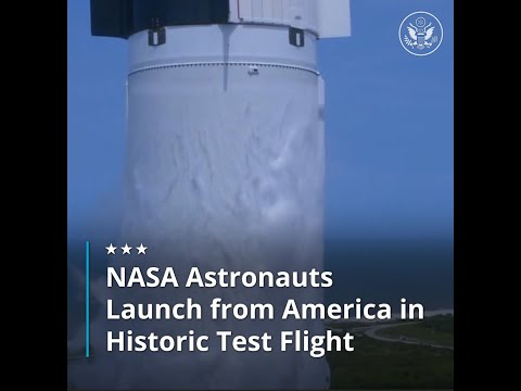 NASA  Astronauts Launch from America in Historic Test Flight