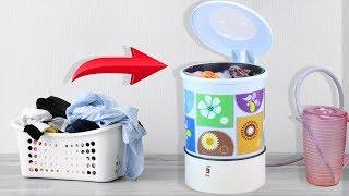 How To Make Mini Washing Machine From Plastic Basket ! DIY Washing Machine