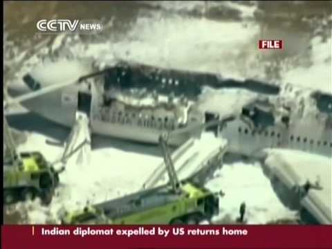 Footage of Asiana Airlines crash shows firefighters saw victim before she was run over