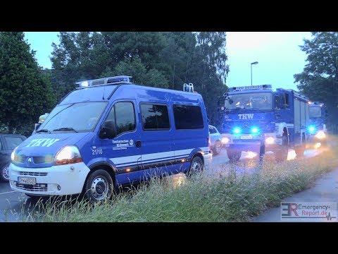 [GEWITTER MIT STARKREGEN IN DUISBURG] - Feuerwehr & THW nach Unwetter im Großeinsatz -