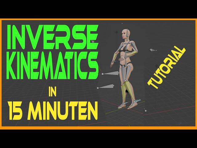 Blender Rigging Inverse Kinematics mit Bones - Tutorial {Deutsch}