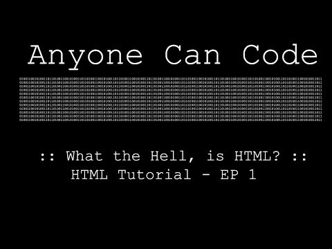 What The Hell, Is HTML? :: HTML Tutorials :: EP 1