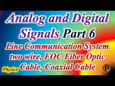 12P1706  Line Communication System two wire, FOC Fiber Optic Cable, Coaxial Cable