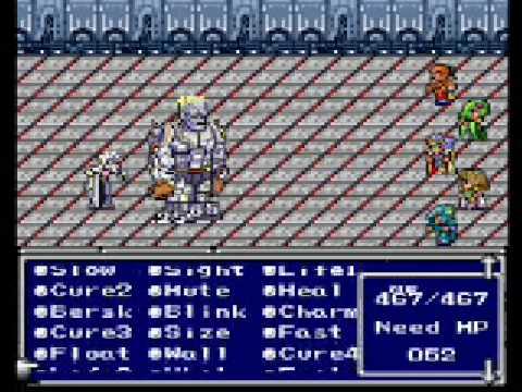final fantasy II (IV) snes boss 15#: Dr  Lugae, Barnabas, Barnabas Z & Lugaborg