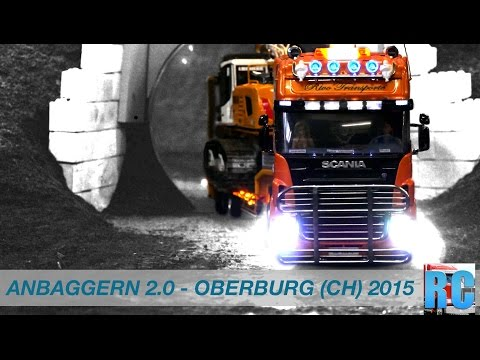 "BEST OF RC EVENT ""ANBAGGERN 2.0"" - OBERBURG, SWITZERLAND 2015 - RC TRUCK,EXCAVATORS,WHEEL LOADERS"