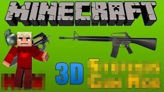 Minecraft Modlar #1 Silah modu (3D guns) HD