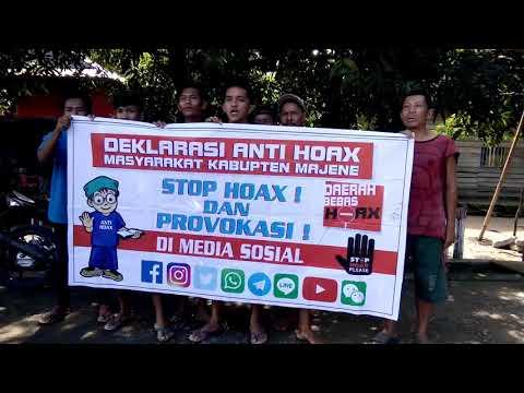 Polres Majene~Deklarasi anti Hoax Masyarakat Desa Kayuangin Kec  Malunda