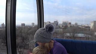 С ребенком на колесе обозрения города Ростов-на-Дону. Путешествия с детьми