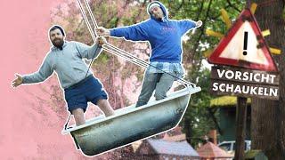 Badewanne-Schaukel u Skateboard-Schaukel bauen