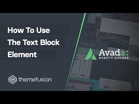 How To Use The Text Block Element Video