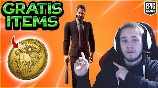 John Wick *FREE* Glider, Backpack + Camouflage! SO works the NEW MODE! | Fortnite German