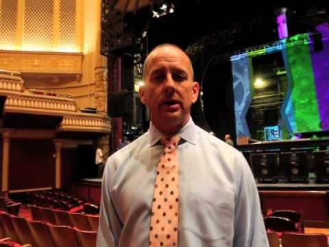 Wicked stage production load-in at Capitol Theater in Salt Lake City
