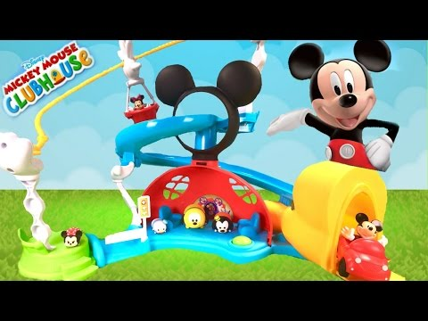 Mickey Mouse Zip, Slide and Zoom Clubhouse! Magical Toy and Tsum Tsum Surprises!