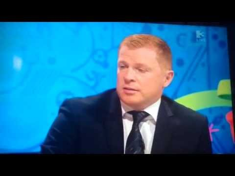 Neil Lennon chokes live on tv