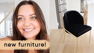 grocery haul, dining chairs and master rug get delivered! | ELA BOBAK