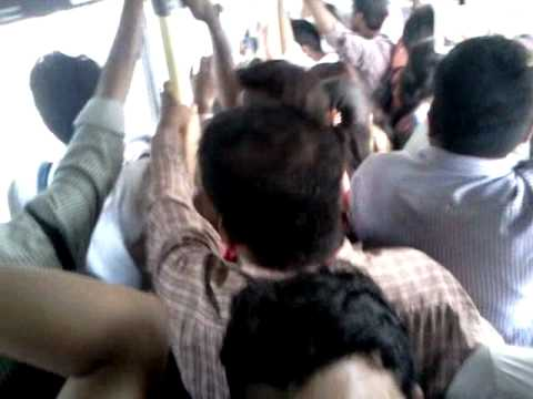 Crowded Buses in Delhi - Over Population in India