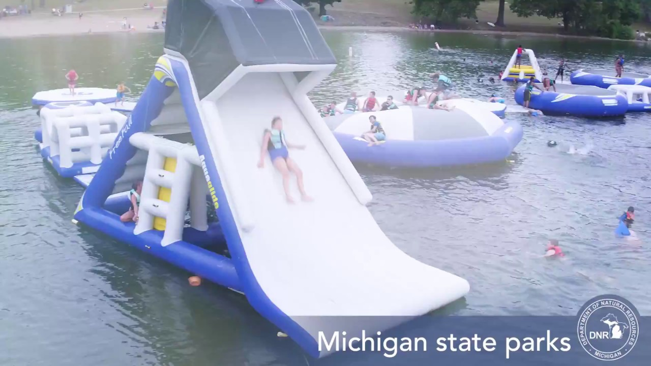 3 Michigan state parks to open 'floating playground' water