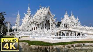 Wat Rong Khun der Weiße Tempel in Chiang Rai Thailand / DJI Osmo+ FZ2500 amazing 4k video ultra hd