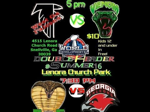 Atlanta Venom vs West GA Falcons WDFL Week 2 July 23 2016