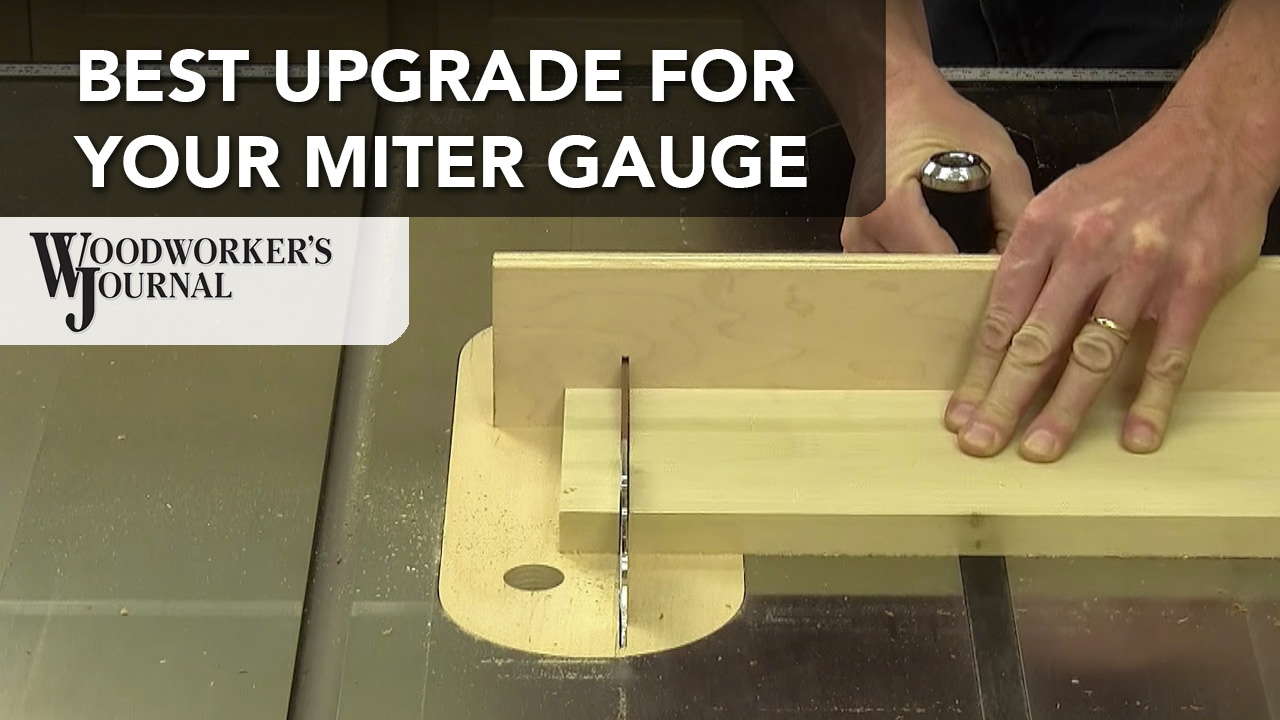 Add A Fence To Your Miter Gauge Youtube