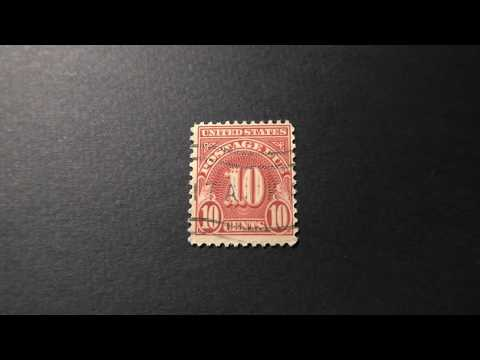Postage Stamp. USA. POSTAGE DUE. Price 10 Cents