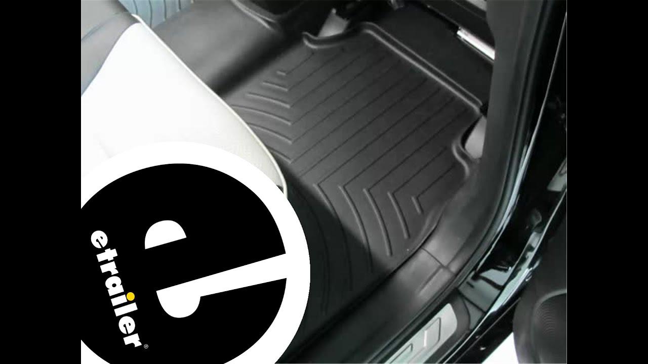 Weathertech floor mats kia rondo - Review Of The Weathertech Rear Floor Liner On A 2012 Kia Sorento Etrailer Com