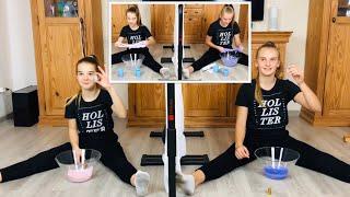 Zwillings Telepathie Schleim Challenge 😂 Twin Telepathy Slime Challenge 👭