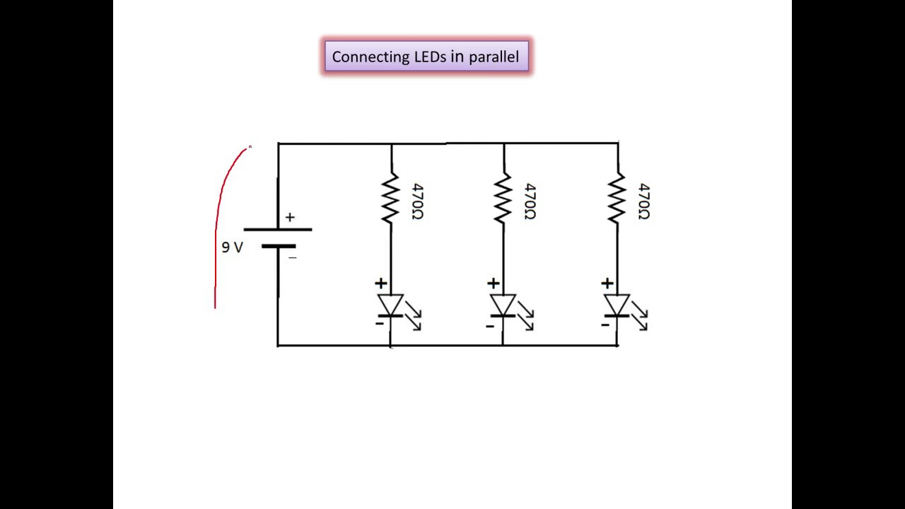 Connecting Leds In Parallel Youtube Wiring