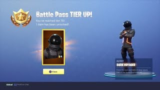 Fortnite tier level 70 reached on battle pass UNLOCKED NEW astronaut character outfit HD 1080p 60fps