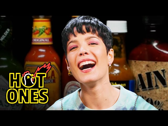Halsey Experiences the Jersey Devil While Eating Spicy Wings   Hot Ones