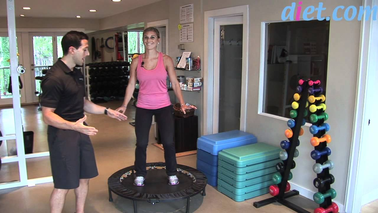 Rebounding: Mini-Trampoline Cardio Workout - YouTube