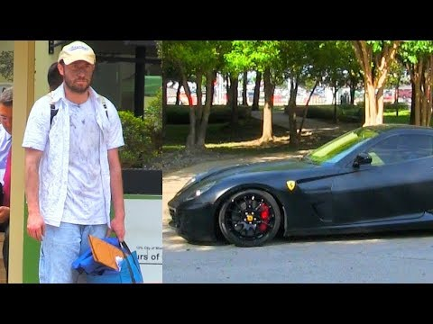 Homeless VS Rich Prank Ferrari!