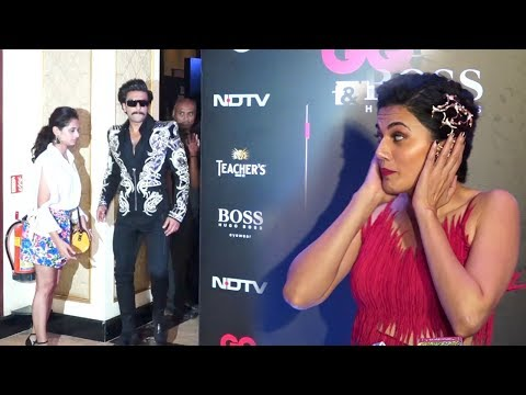 Taapsee Pannu Crazy Reaction Seeing Ranveer Singh's Madness At GQ Style Awards 2019