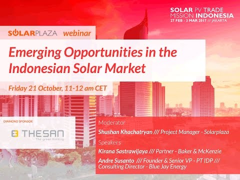 Webinar: Emerging Opportunities in the Indonesian Solar Market