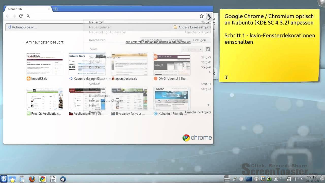 Google theme kde - Google Chrome Chromium Optisch An Kubuntu Kde Sc 4 5 2 Anpassen Schritt1