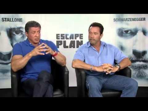 Sylvester Stallone and Arnold Schwarzenegger Interview   Escape Plan