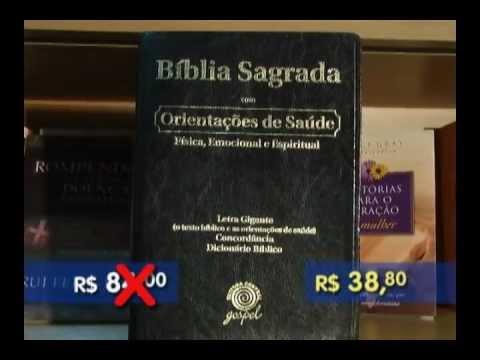 Promoções de livros e Bíblia letra Gigante na Central Gospel Manaus