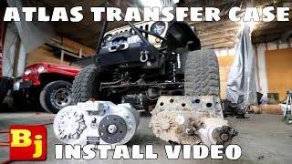 SUPER LOW Gear 4 Speed Atlas Transfer Case Install