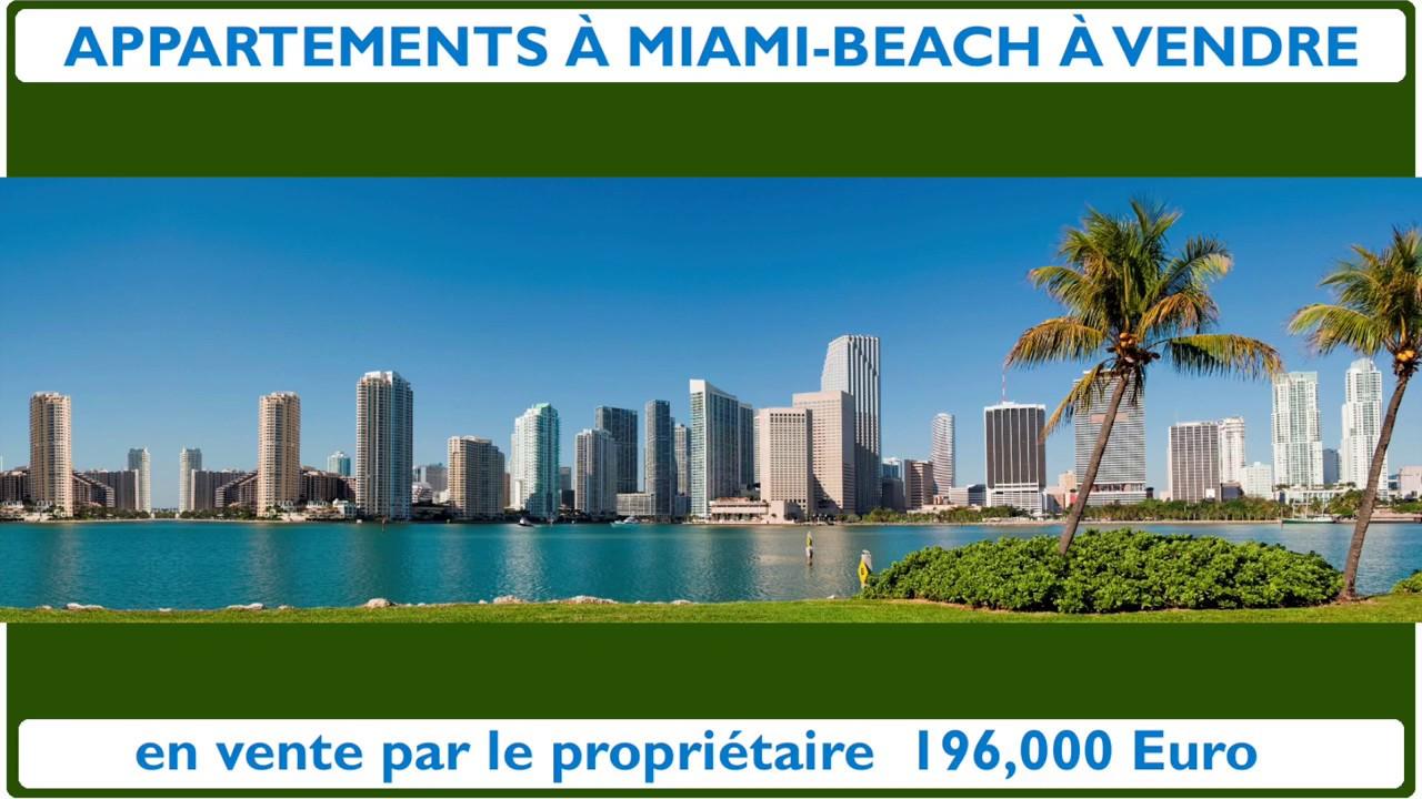 APPARTEMENT À MIAMI-BEACH À VENDRE - YouTube