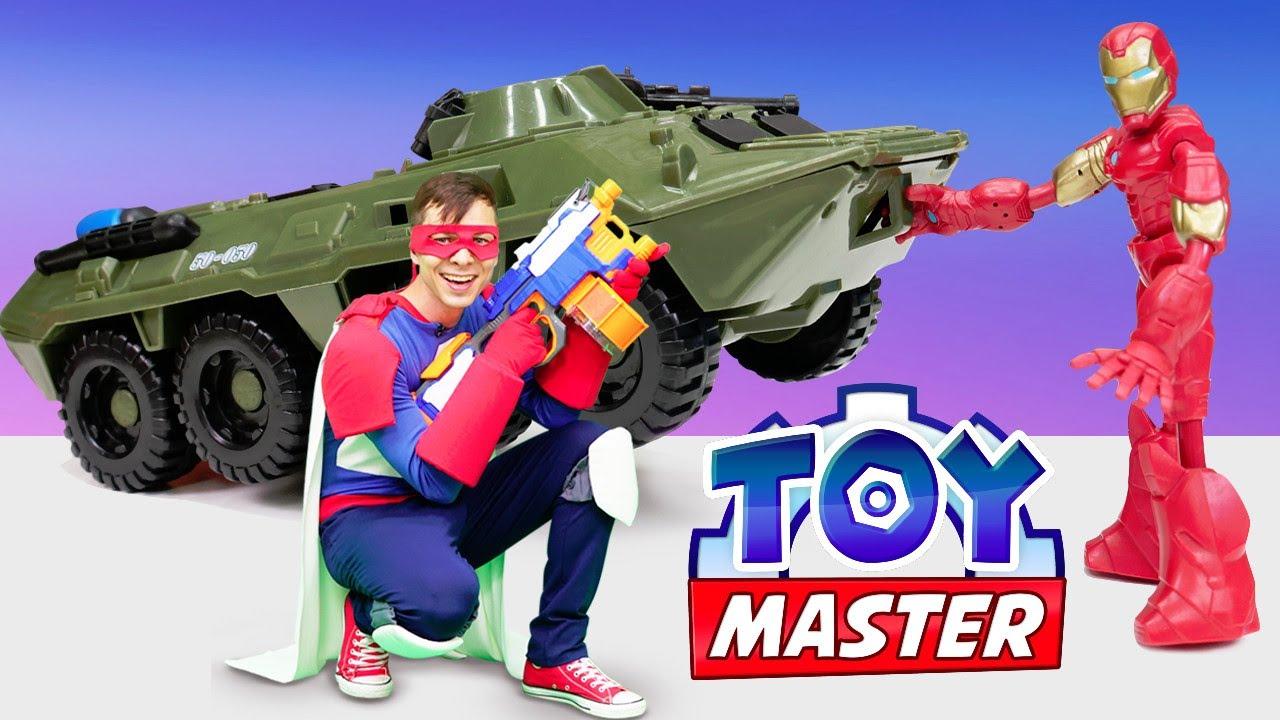 Шоу Той Мастер: Кто сильнее, Человек-паук или Железный человек? Супергерои в видео про игрушки